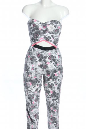 Lashes Jumpsuit Allover-Druck Casual-Look