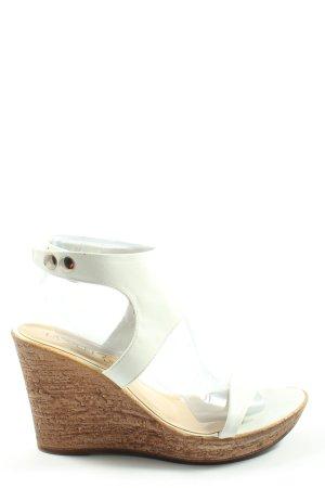 Lasocki Wedge Sandals white casual look