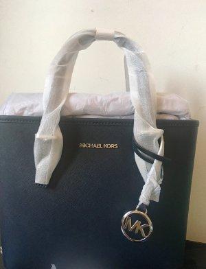 LAST CHANCE!!! MICHAEL KORS Jet Set Travel Tote Bag Navy Ledertasche Dunkelblau UvP 266€