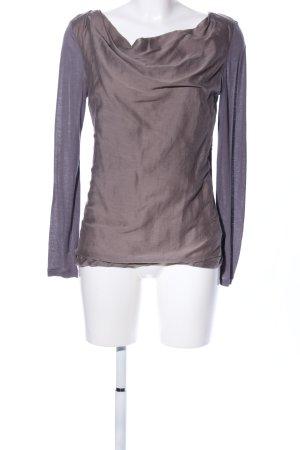 Latina Boatneck Shirt brown-lilac elegant