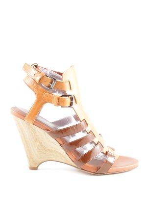 Latitude femme Riemchen-Sandaletten wollweiß-braun Casual-Look