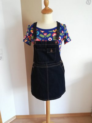 Latz Kleid Mini 36 / 38 S Row Denim retro Neu Latzrock