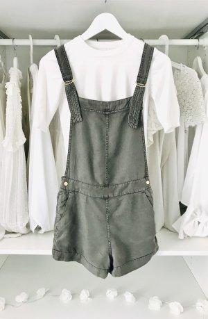 H&M Ogrodniczki zielono-szary-khaki