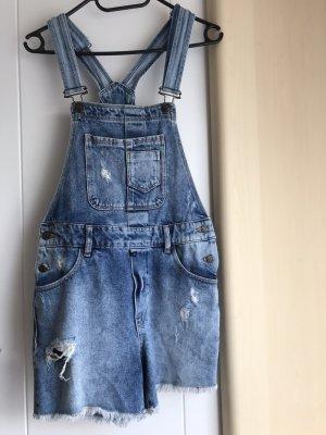 Vintage Boutique Bib Shorts multicolored cotton