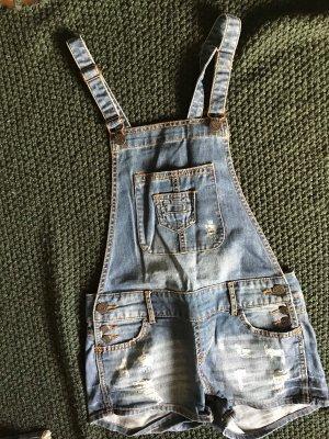 Salopette en jeans multicolore