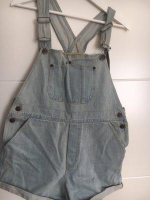 Brandy & Melville Pantaloncino con bretelle blu pallido-grigio ardesia