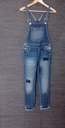 Benetton Jeans Ogrodniczki ciemnoniebieski