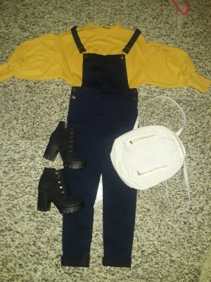 Atmosphere Dungarees gold-colored-blue