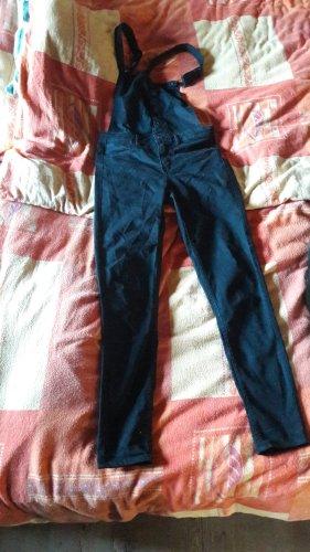 H&M Salopette en jeans noir coton