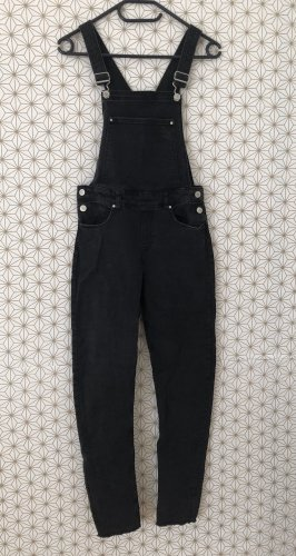 H&M Bib Denim black