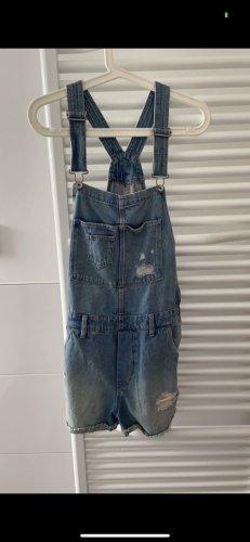 H&M Bib Shorts blue denim