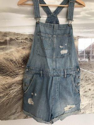 H&M Jeansowe ogrodniczki błękitny