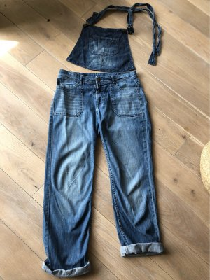 Comptoir des Cotonniers Salopette en jeans bleu azur