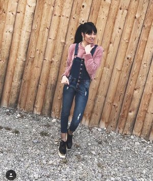 Jeans met bovenstuk blauw Katoen