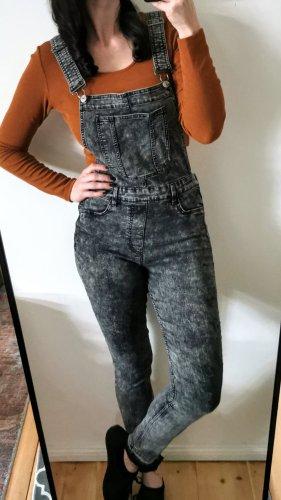 Latzhose Jeans Latzjeans schwarz grau skinny H&M Gr 40 42