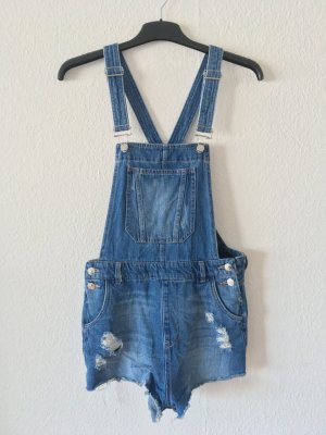 H&M Divided Dungarees white-blue cotton