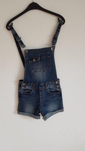 Latzhose Shorts blau Größe xs