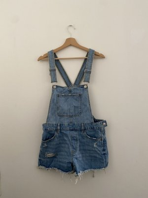 Bershka Bib Denim blue