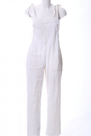 Dungarees white casual look