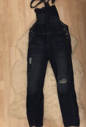 H&M Bib Denim dark blue cotton