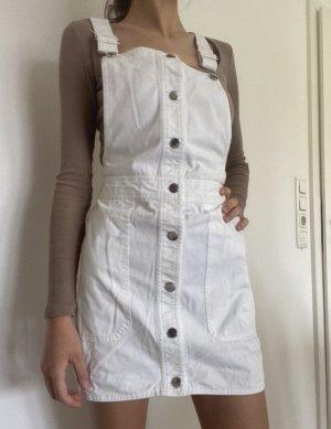 Mango Denim Dress white