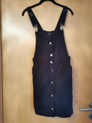 H&M Divided Pinafore Overall Skirt black-silver-colored