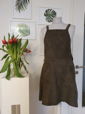 Atmosphere Pinafore Overall Skirt green grey