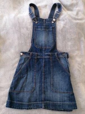 H&M DENIM Pinafore Overall Skirt blue