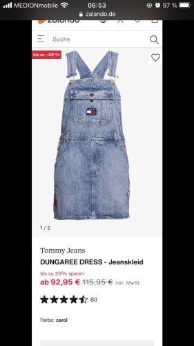 Latzkleid Jeans Kleid Latzhose Tommy Jeans Tommy Hilfiger