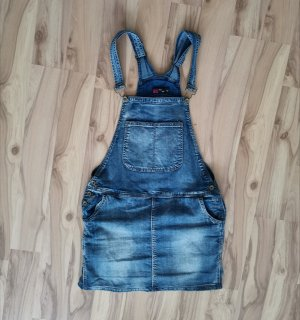 Miss VIP Pinafore Overall Skirt blue