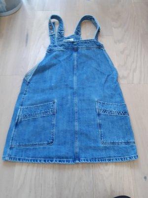 Mango Pinafore Overall Skirt blue