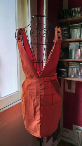 Overgooier overall rok oranje Gemengd weefsel