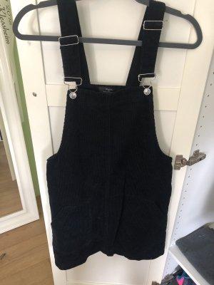 Bershka Pinafore Overall Skirt dark blue