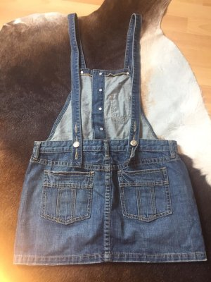 Old Navy Pinafore Overall Skirt blue cotton