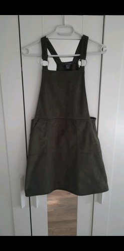 Primark Pinafore Overall Skirt olive green