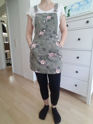 H&M Divided Pinafore Overall Skirt green grey