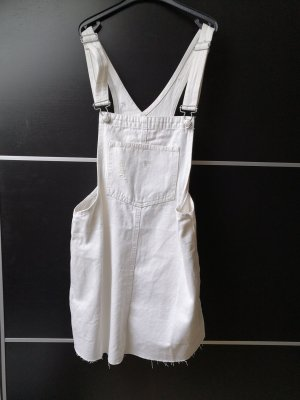 Pull & Bear Pinafore Overall Skirt white