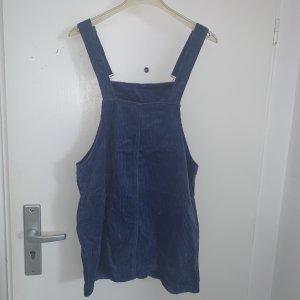 Mango Pinafore Overall Skirt steel blue