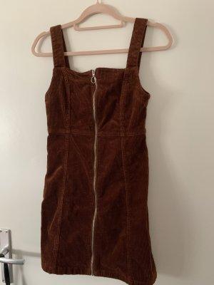 Latzrock dunkelbraun samt mini kleid