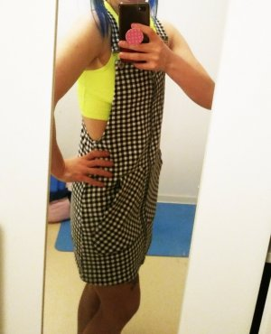 FB Sister Overgooier overall rok wit-zwart