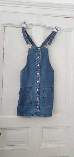 Denim Co. Pinafore Overall Skirt steel blue
