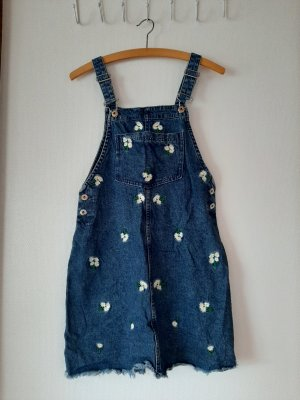 H&M Divided Pinafore Overall Skirt blue-dark blue