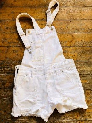 Pantalón corto tipo peto blanco