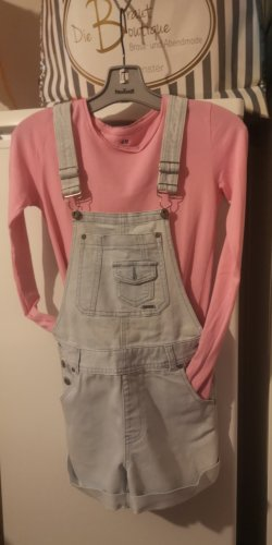 H&M Bib Shorts light blue