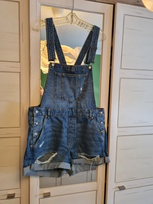 H&M Pantalón corto tipo peto azul