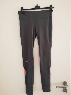 Under armour Pantalone da ginnastica grigio-arancio neon