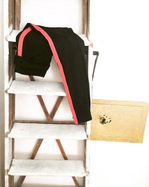 laufhose / trainingshose / vintage / sportswear / leggings / schwarz / korallfarben