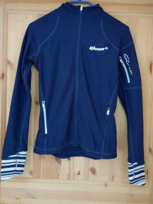 Veste de sport bleu foncé-blanc