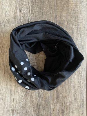 Écharpe tube noir-argenté