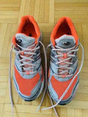 Adidas Basket à lacet argenté-orange fluo